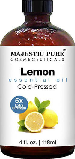 Pure Health HQ - Best Essential Oils for Weight Loss - Majestic Pure Cold-Pressed Lemon Essential Oil